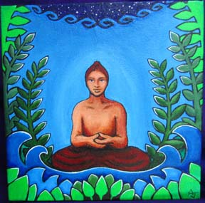 magical world art buddha painting